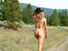Amazing blonde Maya Rae loves anent masturbate at hand nature
