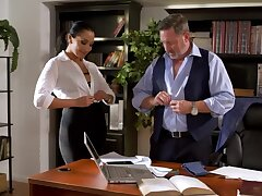Brad Armstrong gives Vicki Chase holdings after pussy-nailing