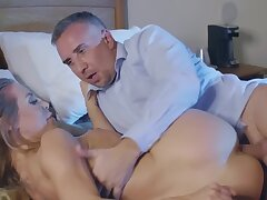 Experienced defy loves fucking his lovely carnal knowledge partner upon stockings