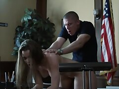 Slutty girl is being fucked by that horny police officer