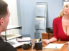 Desk Sex Almost The Big-Titted Supervisor