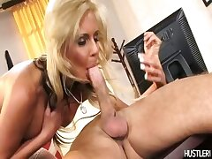 Office milf Phoenix Marie goes hardcore cowgirl