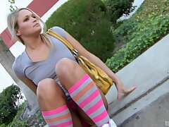 Downcast Diana Pricne loves masturbating with two naughty visitors
