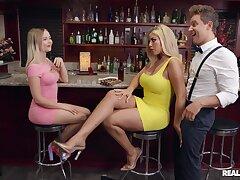 Dinner party Tease - Bridgette B gets nailed in the public bar wide of Van Wylde - authoritativeness hardcore