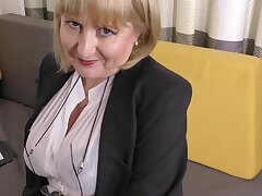 A highly glamour job audition by 57yo handsome Lorna blu