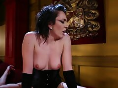 Hardcore fucking on the floor with dialectic Vada in corset