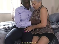 Giant Boob Grandma Up A Cock-Squeezing Labia