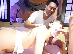 Japanese Cuckolding Busty Girlfriend Cheats In Make believe Of Boyfriend While He Watches