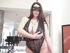 Provocative wife Angela Namby-pamby in kinky lingerie having wild sex