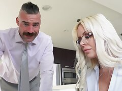 First time this cougar fucks at the office
