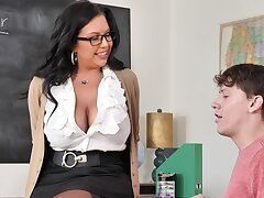 Hardcore quickie between a younger man and MILF Sheridan A torch for
