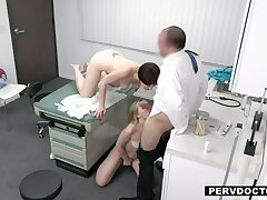 Dr. Baldy prescribes his Penis for Blonde Teen