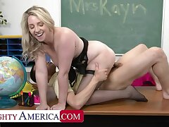 NAUGHTY AMERICA Hubby Watches Teacher getting D