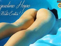 Jacqueline Hope cums inside swimming pool