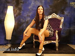 Hot dominatrix looking be fitting of evil-minded & nylon slaves - LJ Classic