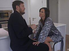 Sexy brunette Alysa Gap sucks and rides a fat black dick in POV