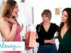 GIRLSWAY – Lena Paul's Wet Threesome Jubilee Gift Surprise