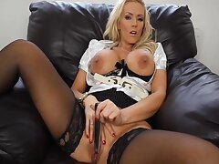 Smoking Hot Boss Drains The Cum Out Be worthwhile for Your Weasel words With Her Massive T - Lucy Zara
