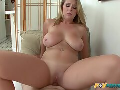 Beauteous Big Natural Titties Girl Takes Three Cum Loads In Her Indiscretion With Brooke Wylde