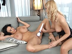 Pleasant oral for two busty lesbians in their 30s