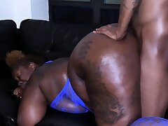 Black Ex Wide A Fine Ass Doggystyled Increased by Taking Cumshot