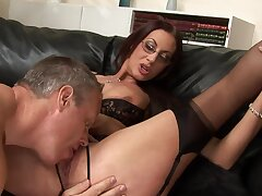Sweet ignorance with pierced clit sucking a broad in the beam dick - Emma Butt