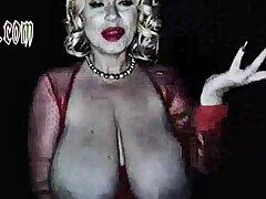 Big boob brunette masturbates primarily webcam