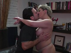 Spectacular starkers fucking with his big ass mature aunt