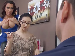 Kinky hairdresser gets violently fucked in the backroom