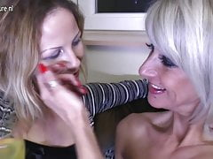 Hot lesbian group sex with moms and young girls