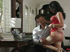 Chad Alva and his froends fuck one be in charge sexy juggy pro in red unmentionables
