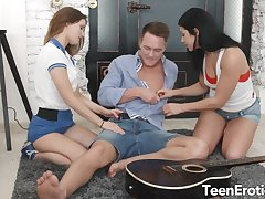 Two Perfect Teens Have an Anal Trine