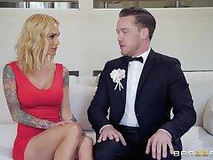 Classy inked MILF babes Bailey Brooke and Sarah Jessie share horseshit