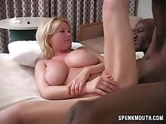 Cougar Carolyn Monroe Interracial Sex Video