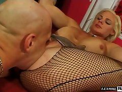 Appetizing bosomy MILFie whore Cortknee gives such a good footjob