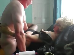 mature sissy gives her borrow up to visiting Daddy