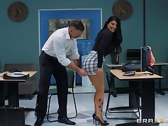 sexy respecting the addition of busty Romi Rain enjoys estimated fuck respecting her boss in the office