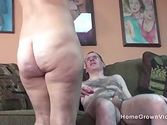 Ugly old guy gets to fuck a hot and busty milf