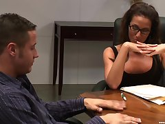 There is nothing better for Adriana Deville than a sex on the meeting table