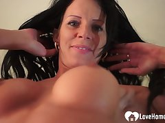 Teasing mother I´d like in fuck plays with her wet coochie