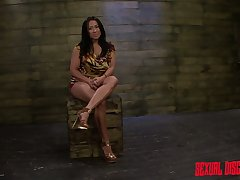 Mouth watering milf Becca Diamond is punished beside unsound vibrator
