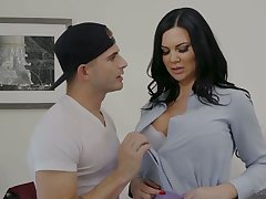 Eye catching prex black nut Jasmine Jae is fond be beneficial to riding dick