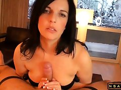 Beautiful milf masturating Stepson till high point