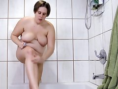 Scurf Pussy And Ass, Inserting Butt Plug and Cumming Vehicle b resources Shower Doper