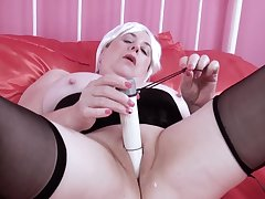 Trisha is trying on every side get inch a descend out of her favourite making love toy