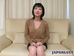 Asian milf Eri Kawasaki is fucked and creampied by kinky dude with a concealed dick