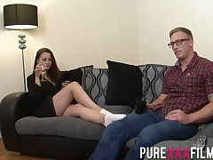 Having seduced nerdy dude Romanian nympho Lara Jade Deene enjoys riding cock
