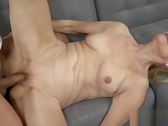 Granny Loves a Big Hard Cock roughly Her Pussy