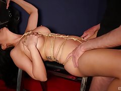 Amazing subjection sex and orgasms for the naked wife