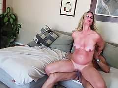 Cougar gets ravaged hardocre in the kitchen together with the living room